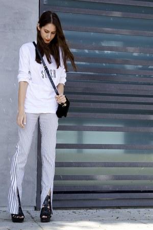 Shop Super Street t-shirt - striped Acne Studios pants
