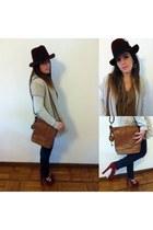 brown Fossil bag - brick red H&M hat - brick red Topshop heels