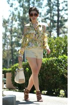 yellow Lovers and Friends shirt - beige Reed Krakoff bag