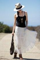dark brown adrienne vittadini bag - black Forever 21 top