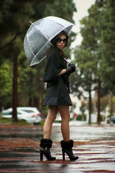 black Michael Kors boots - black Chanel sunglasses - black Nordstrom accessories