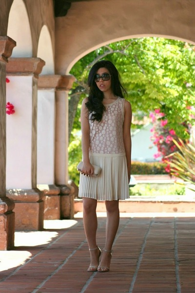 ivory Lush dress - ivory TJ Maxx bag - black Chanel sunglasses