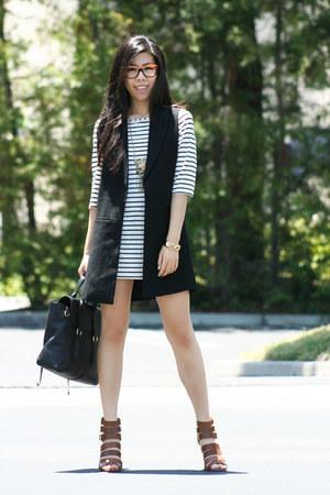 black 31 Phillip Lim bag - white DIY dress - black vest