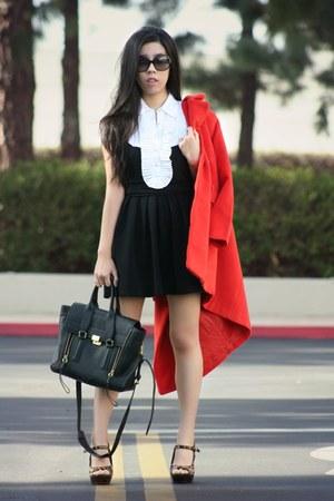 black Nordstrom dress - black 31 Phillip Lim bag - black Chanel sunglasses