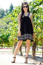 black free people dress - black Dolce Vita heels