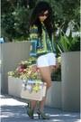 Chartreuse-zara-shirt-eggshell-reed-krakoff-bag-white-abercrombie-shorts