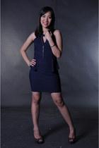 navy blue Pink Manila dress - black So FAB heels