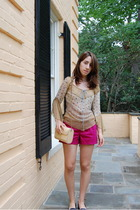 Vintage Moms top - shorts - Urban Outfitters shoes - vintage purse