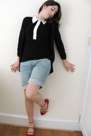 Marc by Marc Jacobs shirt - Levi shorts - Miu Miu shoes