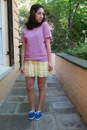 vintage t-shirt - vintage skirt - Urban Outfitters shoes