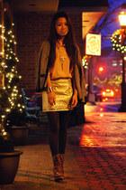 eggshell Sugarlips skirt - navy H&M cardigan - pink Forever 21 blouse
