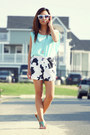 White-cow-print-aupie-shorts-white-reflective-aupie-sunglasses