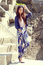 Black-leopard-print-charlotte-russe-sunglasses-navy-floral-persunmall-pants