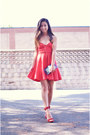 Red-skater-10dollarmall-dress-ruby-red-soiree-jeffrey-campbell-heels
