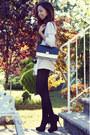 Black-cotton-uniqlo-tights-black-color-block-persunmall-bag