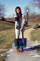Forever 21 blouse - H&M boots - hayden reis bag - Zara pants