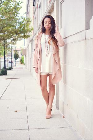 DressLink coat - Sheinside romper - Jeffrey Campbell heels
