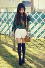 Lace-oasap-shorts-vintage-bag-thigh-highs-nordstrom-socks