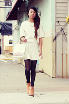 gold gold PERSUNMALL necklace - light orange studded Forever 21 boots
