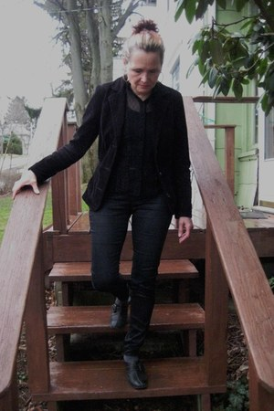 Marshalls blazer - leather pants J Brand jeans - Victorias Secret intimate