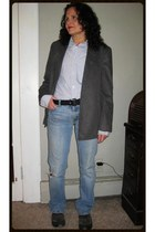 low rise 524 Levis jeans - H&M blazer - Ambercrombie & Fitch shirt