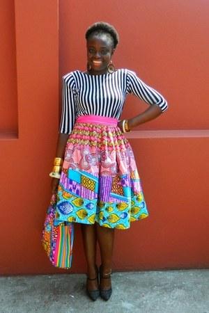 midi CJAJ09 skirt - african print CJAJ09 bag - Sophia E swatson top - Aldo heels