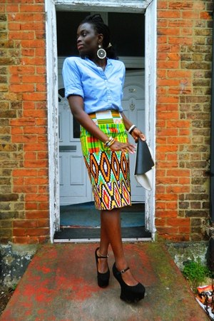CJAJ09 skirt - Zara shirt - Matalan bag - Ebay wedges