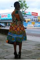 CJAJ09 vest - Zara shirt - CJAJ09 skirt - Ebay wedges