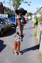CJAJ09 dress - H&M hat - CJAJ09 bag - Anne Mitchelle heels