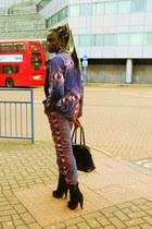 african print CJAJ09 suit - Ebay boots - Primark bag - Topman tie
