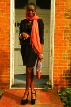 tulip asos skirt - Topshop blazer - print clutch CJAJ09 bag