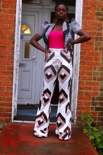 flare Sophia Emilia Swatson pants - CJAJ09 blazer - Primark top