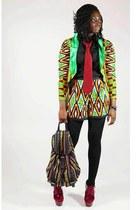 african print CJAJ09 suit - Primark shirt - asos bag - Ebay wedges