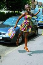 african print CJAJ09 dress - african print CJAJ09 bag - Primark sandals