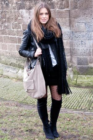 black Zara shoes - black Alexander Wang skirt - gray t by alexander wang t-shirt