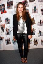black Zara blazer - white H&M t-shirt - black Zara pants - black D&G shoes
