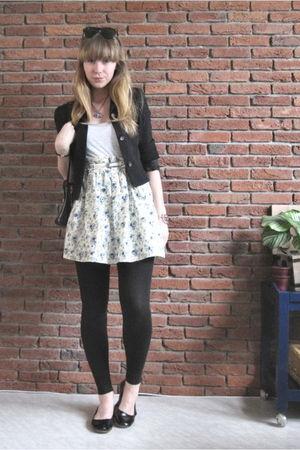 black vintage blazer - Mums skirt