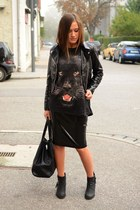Zara shirt - H&M skirt