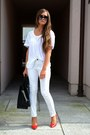 Michael-kors-bag-mango-blouse-zara-heels-h-m-pants