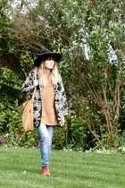 vintage jacket - vintage boots - vintage hat - H&M sweater - baggu bag