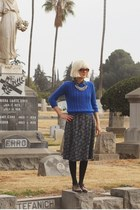 vintage dress - oxfords dieppa restrepo shoes - vintage sweater
