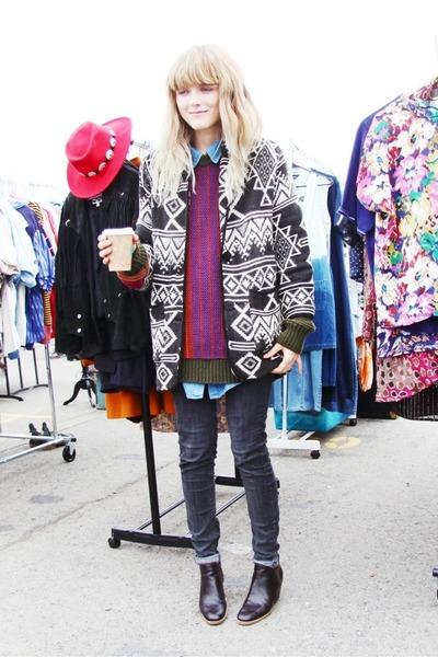 vintage jacket - Rachel Comey boots - BDG jeans - vintage sweater