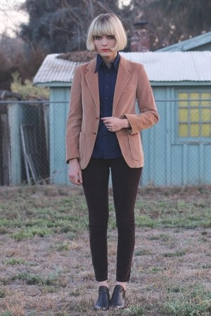 vintage jacket - Rachel Comey boots - vintage shirt