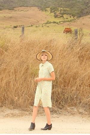 Rachel Comey boots - vintage dress