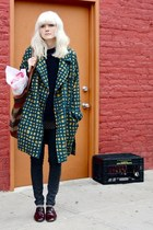Cacherel jacket - patent leather dieppa restrepo shoes - Urban Outfitters jeans
