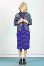 vintage jacket - Rachel Comey boots - vintage dress