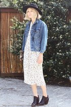 vintage dress - Rachel Comey boots - vintage jacket