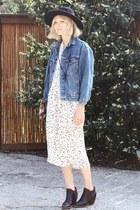 vintage dress - Rachel Comey boots - vintage jacket