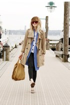 polka dot H&M shirt - vintage shirt - Gap jacket - Cheap Monday pants