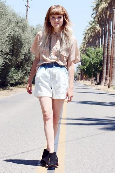 dip dyed vintage shorts